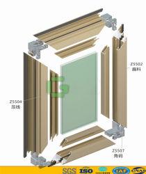 De het thermische Openslaand raam en Deur van het Aluminium van de Geluidsisolatie van de Onderbreking voor Bouwmaterialen