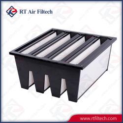 Ultra alta eficiencia HVAC V-Banco Marco de plástico filtro medio compacto
