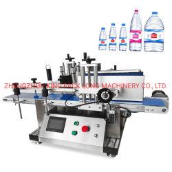 Tipo de Tabela de alta velocidade redondos único lado adesivo auto-adesivo frasco de vidro/Máquina de rotulação de garrafa pet