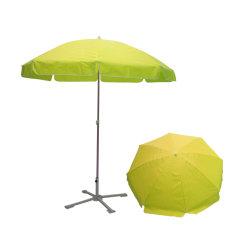 Polyester-Sonnenschirm-Regenschirmsun-Strand des im Freienbekanntmachengelber Leerzeichen-210d