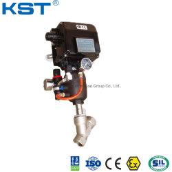 Het pneumatische Actuator Instelmechanisme van de Zetel Valve+Yt1000L van de Hoek (Regelende Klep)