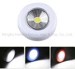 Wireless LED de luz de inserción de la COB, Batería Stick haga clic en el toque de luz de noche, armario ropero