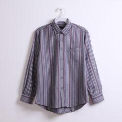 100% katoenen garens Dye Stripe Long Sleeve men Shirts OEM China Factory