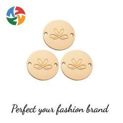 مصنع حارسة [لسّري] نساء [لينجري] بطاقات نوع ذهب ملابس علامة و شعار الملابس الداخلية المجوف الذهبي منقوش على الملصق