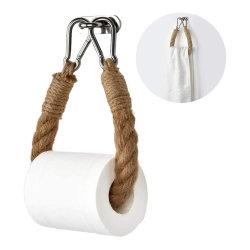 المرحاض لا يفسد 304 ورق من العلف بدون أكلس ستيل حامل التعليق