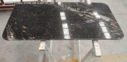 블랙 코즈믹 네불라 그라니트 광택 맞춤형 천연 스톤 데스크 가구 아파트먼트 주거용 Top Kitchen 조리대