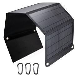 bewegliche Aufladeeinheit des Sonnenkollektor-28W, wasserdichte kampierende Gang-angeschaltene Solaraufladeeinheit für iPhone X/8 plus, Samsung-Galaxie S9/S8, iPad, Tablette