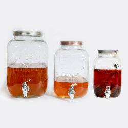 Grote capaciteit kraan Glas Wijnopslagtank, huishoudfruitwijn, Enzyme Brewing Glass containers en flessen