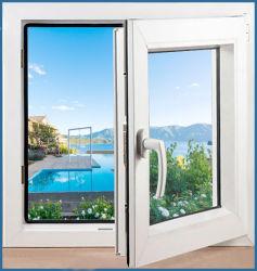 Acristalamiento acristalamiento Casement de plástico de PVC y PVC puerta ventana de UPVC