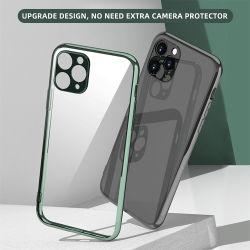 Venda por grosso de 2,0mm Electroplate Luxo pára-choques Gel TPU clara caso telefone para iPhone 11 PRO Max