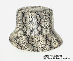 양면을 사용한 패션 Snakeskin 버킷 모자