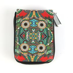 Cuero Cuero Billetera moneda pequeña Mini bolso con cremallera mujer Bolso Moneda Personalizada