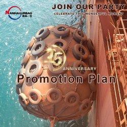ISO 17357-zertifiziert, 2000 mm x 3500 mm, Nettotyp Marine Yokohama Pneumatische Fender für kleine Schiffe übertragen auf Big Schiffe Auf Binnenschiffen