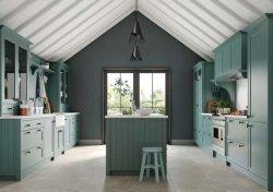 Mobilia moderna della casa della pietra del quarzo di stile di vendita calda blu opaca di Lacuqer