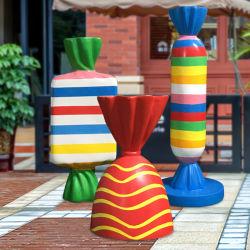 Fibra di vetro Donuts resina Candy Lollipop sculture modello per il parco divertimenti Ornamento