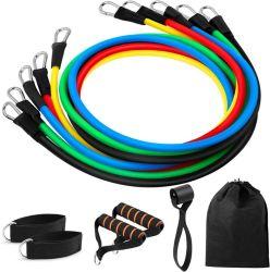 Portable Accesorios fitness gimnasio en casa 5 Piezas ejercicio conjunto de bandas de resistencia