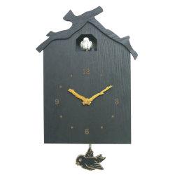 Noir coucou Horloge murale en bois classique