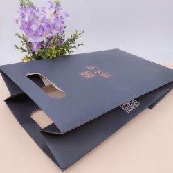 Hochwertige weiße Packpapier-Einkaufstasche, zum Ihres eigenen Firmenzeichens anzupassen