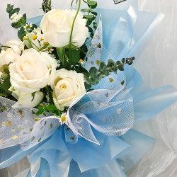 Perla Brillo Flor resistente al agua del papel de embalaje para el embalaje de flores