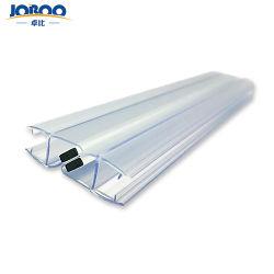 シャワー室のプラスチックPVCガラスドアのための透過防水磁気シールのストリップ
