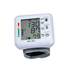 電子デジタル携帯用自動心拍数のパルスの手首の血圧のモニタ