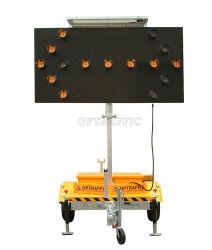 Electrónica de 19m Las lámparas LED solares montados en el trailer de la Junta de flecha para el Control de Tráfico