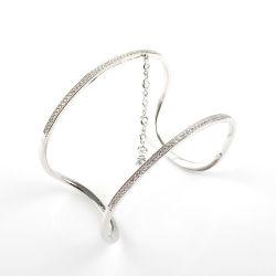 Fancy Trendy personnalisé 925 Sterling Silver Bangle