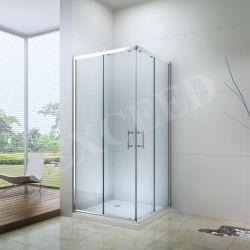 浴室の二重引き戸正方形アルミニウムフレームのシャワー機構(EX-506)