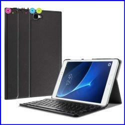 Het Geval van het Leer van het Toetsenbord van Bluetooth voor de Melkweg van Samsung voorziet 10.1 van labels