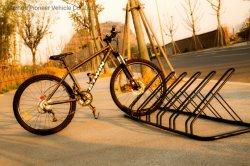 إطار ركن دراجات من الفولاذ الكربوني مُثبَّت بالأرضية، 6 مساحات