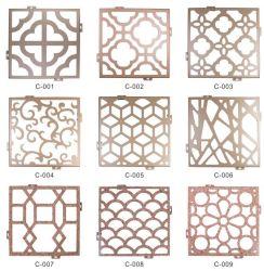Corte CNC textura de madeira esculpida em alumínio cor de instrumentos