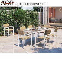 Современных китайских наборов мебели в Саду наращиваемые плетеной плетеной кресло обеденный стол