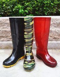 El PVC de color negro de la impresión personalizada botas de lluvia de goma