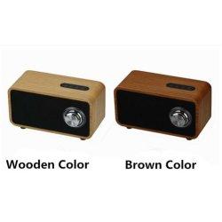 Fornecimento de fábrica com colunas de madeira sem fio Bluetooth RoHS para qualquer telefone móvel
