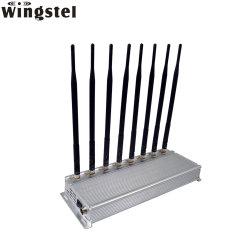8 antenas WiFi GPS 3G 4G de la señal de teléfono móvil de la señal Jammer Blocker