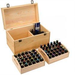 熱い販売の精油ボックスハンドルの取り外し可能な皿が付いている木の記憶の箱