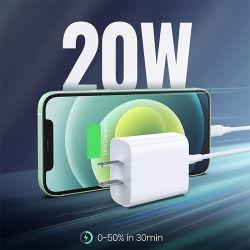 20W USB C pd mur portable de type C Chargeur rapide de téléphone mobile pour iPhone