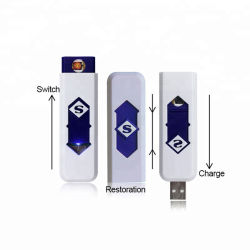 Pas de carburant cigare USB Briquets Briquet rechargeable portable Windproof Tabac
