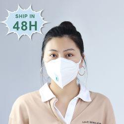 Het beschermende KN95 5 Masker van het Gezicht van Facemask van het Ademhalingsapparaat van de Vouw Beschikbare FFP2