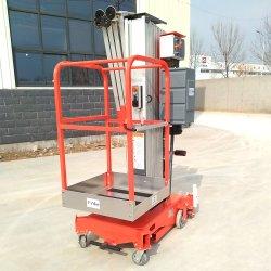 Levage du mât vertical Push Mobile Manuel personne Portable électrique unique un homme pour la vente de levage