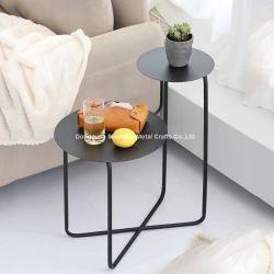 Moderne Table ronde en métal fin côté Accueil Mobilier Table à café