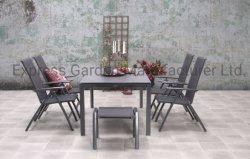 Teslin /Textilene étanche fauteuil avec table en verre céramique à garnir de plein air Restaurant Accueil Jeu de meubles de patio