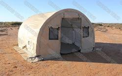 La nueva estructura de PVC de doble arco de las capas del ejército militar de Gran Carpa Carpa con tubo de aire frío