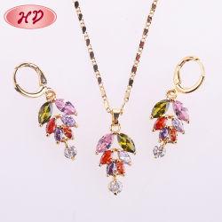 HD Wholesale 2020 Fashion Design Copper 18K Gold Jewelry Sets Met kubieke zircon voor vrouwen