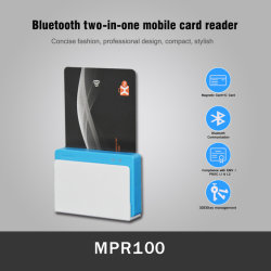 Bluetooth Mobile Smart Chip magnetische draagbare EMV-kaartlezer (MPR100)