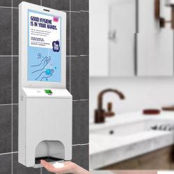 Higienizador de manos automática para lavar a mano LCD digital de mano de Billboard higienizador estaciones dispensador