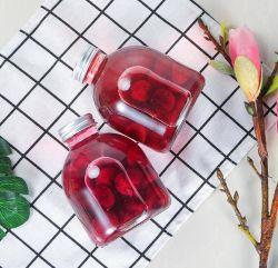 Botella de vino de cristal pequeño vaso de bebidas calientes frutas Botella de Vino Arrayán té Leche Jugo jarra sellada la botella con tapa 300ml-500ml
