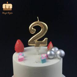 معدنيّة نوع ذهب رقم أحد عيد ميلاد شمعة