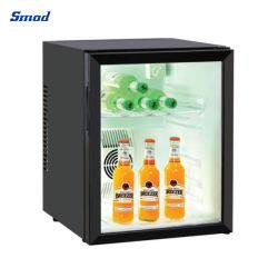 نظام تبريد كهربائي ساخن 40 لترًا وثلاجة للباب الزجاجي الخالي من ذواقة الأنابيب