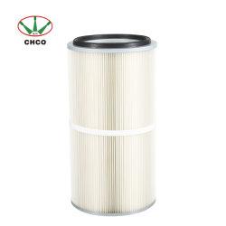 세척 유화 100% 폴리에스테르 스파이본드 파우더 수집기 원뿔형 공기 필터 카트리지 부품
